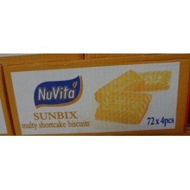 Nuvita Sunbix Malty Shortcake Biscuits 72 x 4pcs